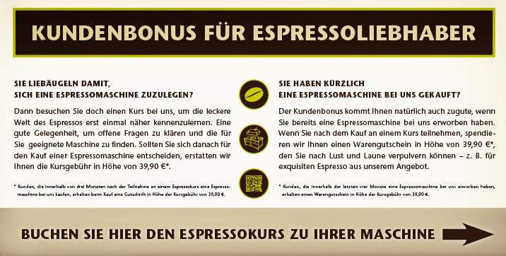 Espressokurs-Maschine