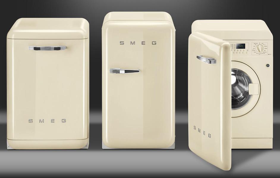 Retro Kühlschrank Linksanschlag : Smeg kühlschrank fab creme welter welter köln