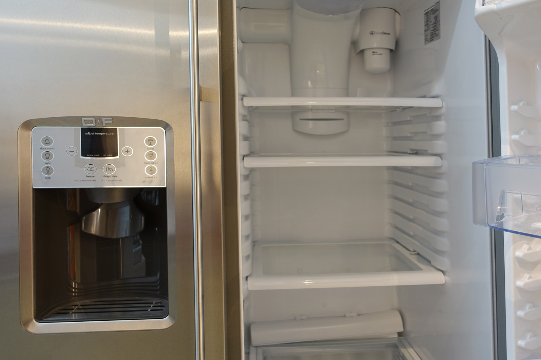 Amerikanischer Kühlschrank Edelstahl : O f classic side by side kühlschrank mit dispenser welter