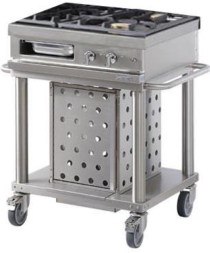 Westahl Open Cook WTG730 Grillwagen mit 3 Gasbrennern