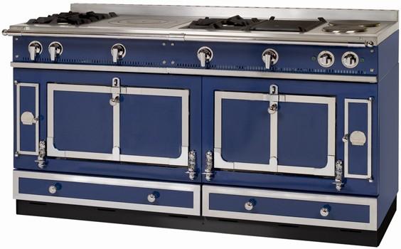La Cornue Standherd 165 cm Blau mit Nickel