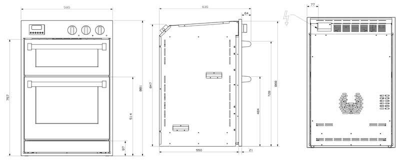 Steel-Einbaubackofen60x90-Skizze