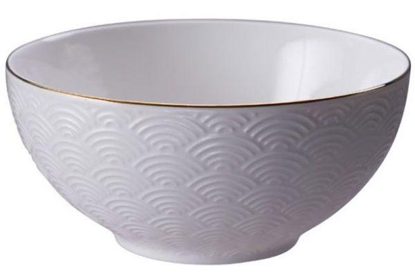 Tokyo Design Nippon White Gold Rim Bowl 550 ml