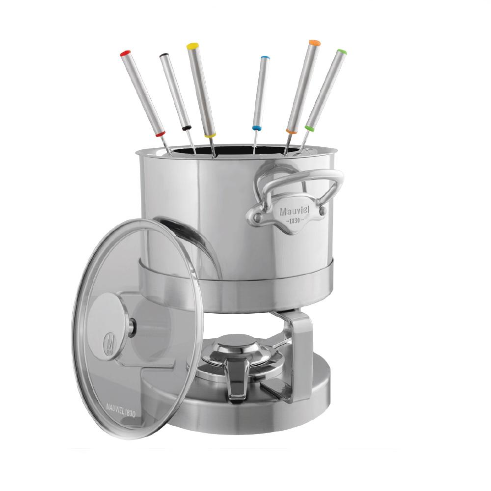 mauviel fondue inkl glasdeckel m cook fonte inox 5205 18 welter welter k ln. Black Bedroom Furniture Sets. Home Design Ideas