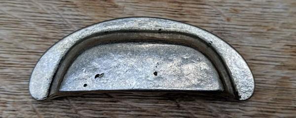 Muschelgriff 88 mm Antik-Zinn OPW