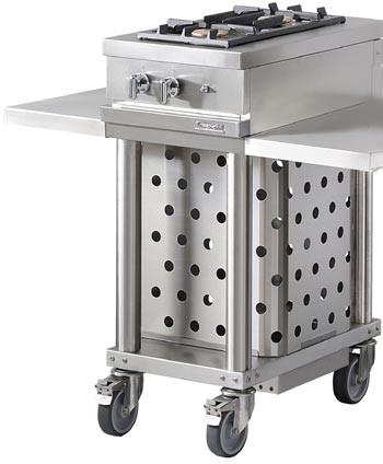 Westahl Open Cook WTG420R Grillwagen mit 2 Gasbrennern