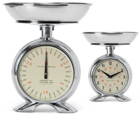 Bengt ek Design - Küchenwaage mit Uhr