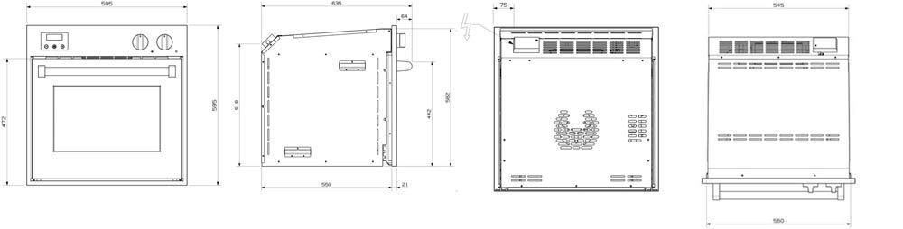 Steel-Einbaubackofen-60x60