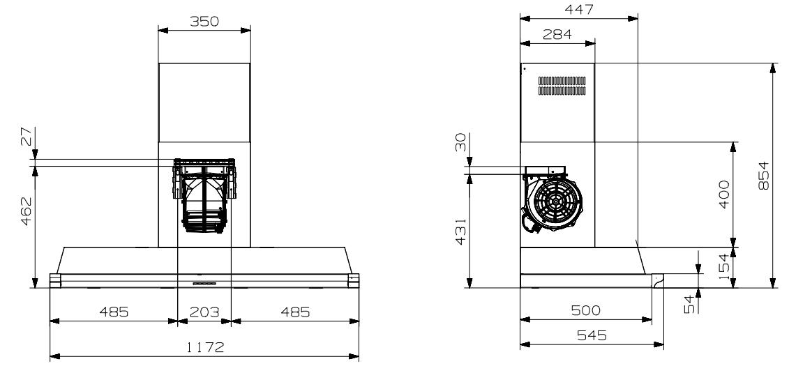 steel ascot dunstabzugshaube ak120 welter welter k ln. Black Bedroom Furniture Sets. Home Design Ideas