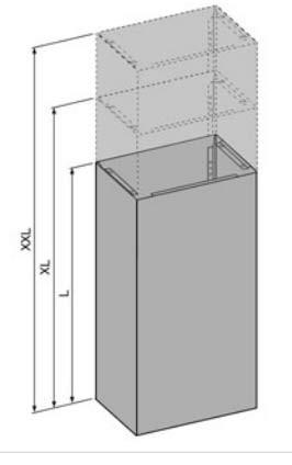 O+F Abluftverkleidung-Schacht für Inselhaube