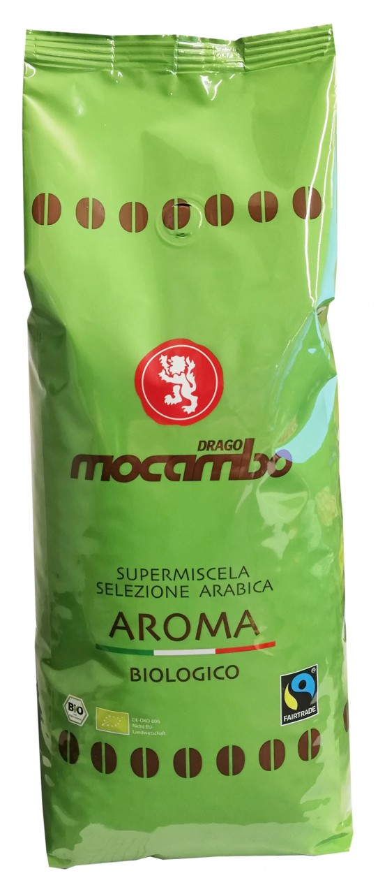 Espresso Mocambo Aroma - BIOLOGICO - 90/10, 1 kg Bohnen - FAIRTRADE