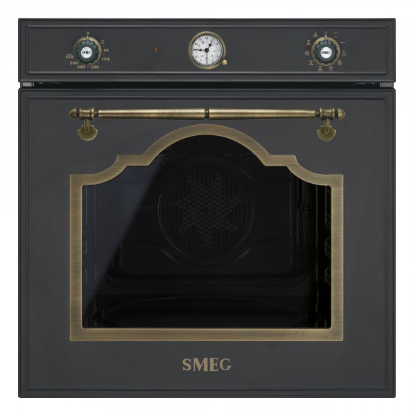 Smeg Backofen SF750AO Anthrazit / Messing Antik