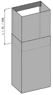 O+F Teleskopstück für Wandhauben