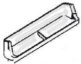 Smeg Ersatzteil Türfach inkl. 2 Fächern 500 mm