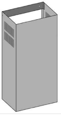 O+F Umluftschacht mit Lüftungsgitter im Abzugschacht für Wandhauben