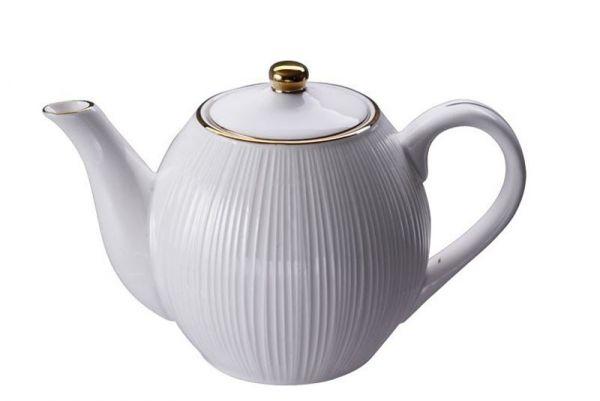 Tokyo Design Nippon White Gold Rim Teapot