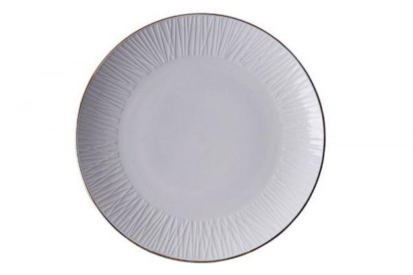 Tokyo Design Nippon White Gold Rim Plate 30 cm