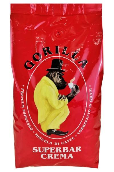 Espresso Gorilla 1 Kg Bohnen - Superbar Crema 80/20 %