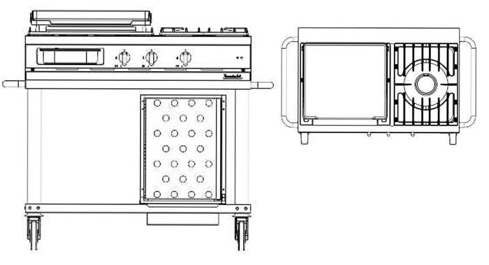 Lacanche Westahl Grillwagen WTG 1030 PL