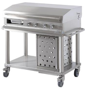 Westahl Open Cook WTG1040PL-C Grill-Wagen Plancha Gas/2 Gasbrenner/2xAblagetablare