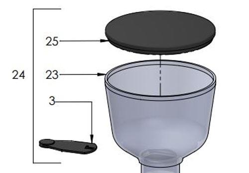 ECM Bohnenbehälter für Espressomühle C-54
