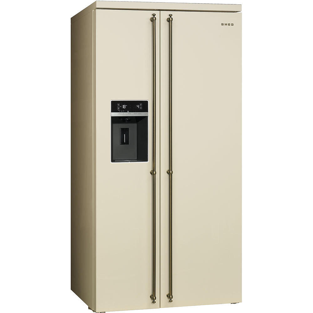 Smeg Küchenzeile ~ smeg nostalgie kühlschrank side by side sbs8004po 90 cm welter und welter köln
