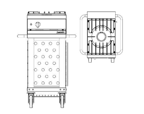 Lacanche Westahl Grillwagen WTG 410 UR