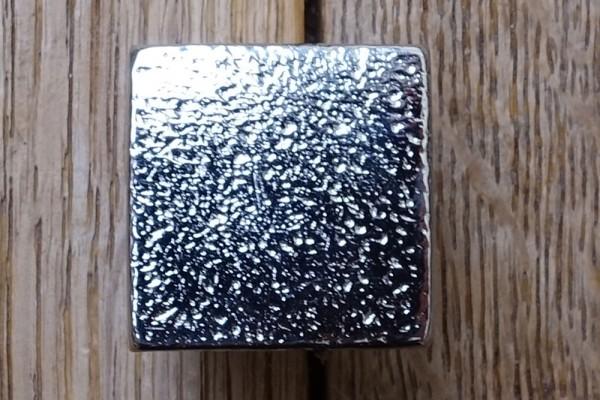 Möbelknopf 25x25 mm Weiß-Bronze WB