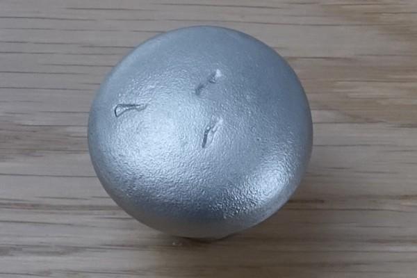 Möbelknopf 35 cm Antik-Silber