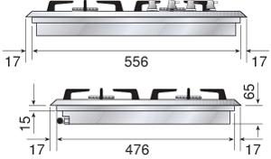 Ilve-Gaskochfeld-HP65
