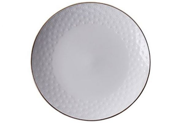 Tokyo Design Nippon White Gold Rim Plate 19 cm