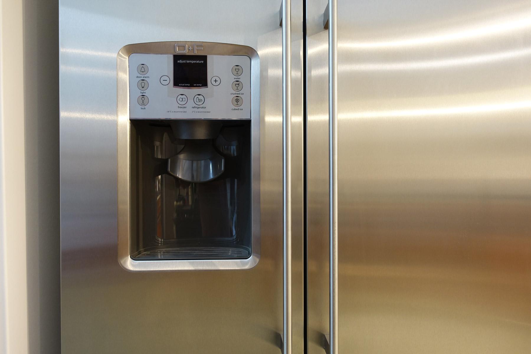 Side By Side Kühlschrank Crushed Ice : O f classic side by side kühlschrank mit dispenser welter