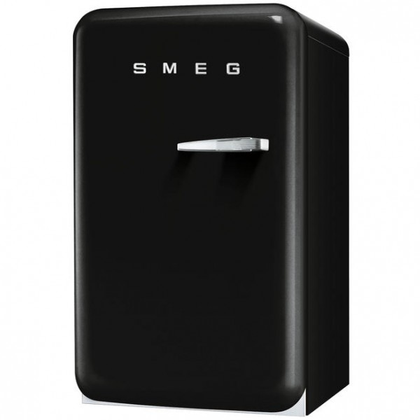 smeg k hlschrank fab10 happy homebar schwarz welter. Black Bedroom Furniture Sets. Home Design Ideas