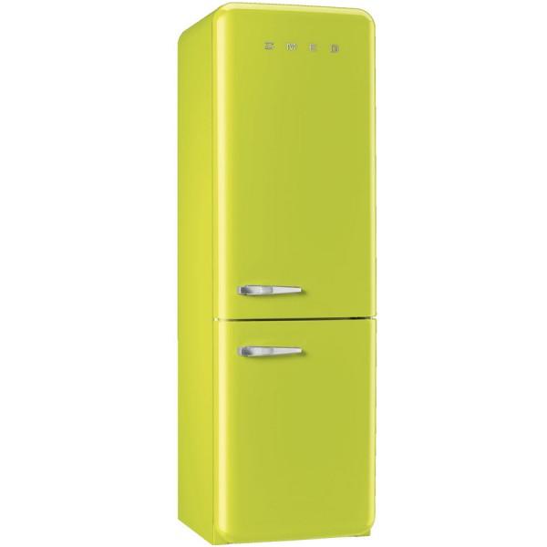 Smeg Kühlschrank FAB32RLI3 Limmettengrün mit Rechtsanschlag