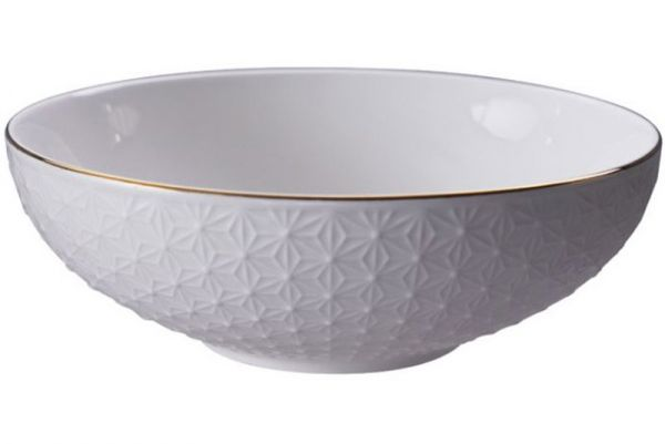Tokyo Design Nippon White Gold Rim Bowl 780 ml