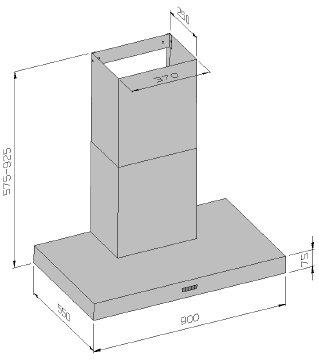 o f luna dunstabzugshaube mit randabsaugung welter welter k ln. Black Bedroom Furniture Sets. Home Design Ideas