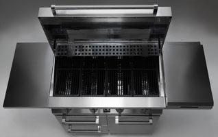 BBQ Grillwagen Edelstahlablage