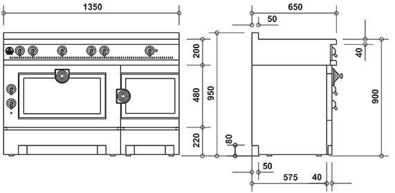 la cornue grand papa standherd 135 cm wir beraten sie. Black Bedroom Furniture Sets. Home Design Ideas